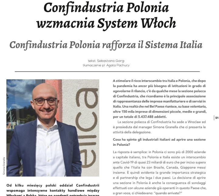 Intervista con il Presidente di Confindustria Polonia