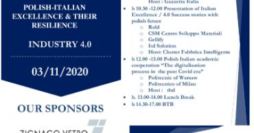 """EVENTO """"INDUSTRIA 4.0"""" WARSAW INDUSTRY WEEK 3 NOVEMBRE 2020"""