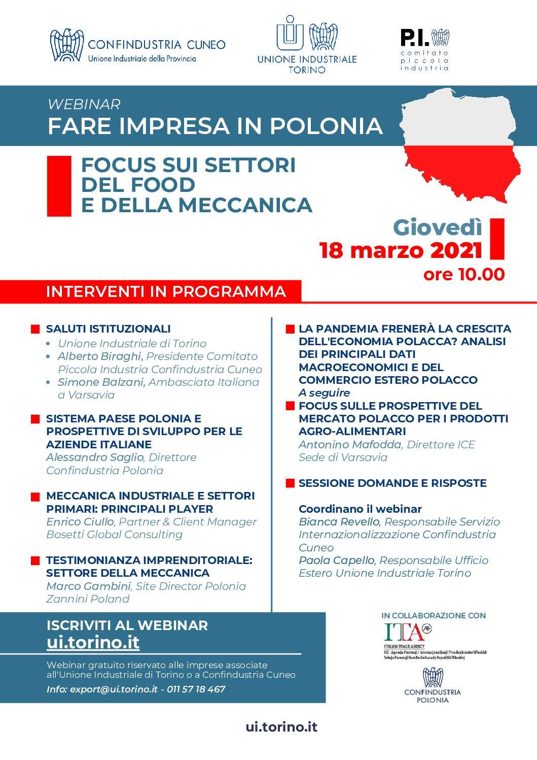 Webinar FOCUS POLONIA – 18 Marzo 2021